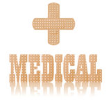 Medical text and symbol Royalty Free Stock Image