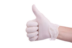 Medical Theme. Medical hand showing that all the rules Royalty Free Stock Image