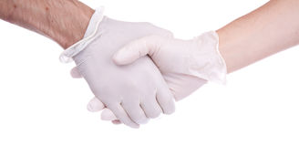 Medical Theme. Hand in the medical Stock Image