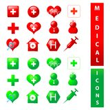 Medical themed icons Stock Image