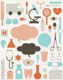 Medical Themed Icons And Warning-sig Stock Image