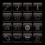 Medical themed icons and warning-signs. Icon Set Stock Photography