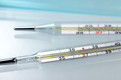 Medical thermometers Royalty Free Stock Photos