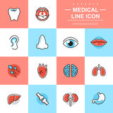 Medical thin line icons Stock Photos