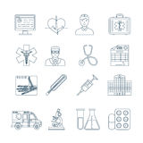 Medical Thin Line Icons Royalty Free Stock Photos