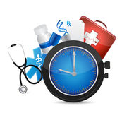 Medical time concept illustration design Stock Photos