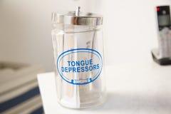 Medical tongue depressors vector illustration