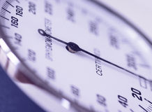 Medical tool. Close up of a sphygmomanometer Royalty Free Stock Photos