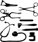 Medical tool black 03. Medical tool set black 03 Royalty Free Stock Photo