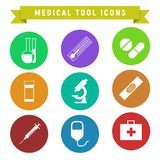 Medical Tool Icons. Vector Graphic Illustration Design Stock Image