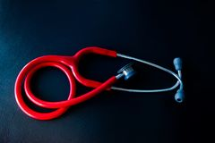 Medical tool,stethoscope use to listening sound of heart rate or lung or blood vessel at the hospital.Health care concept. Medical tool,stethoscope use to royalty free stock photo