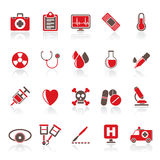 Medical tools and health care equipment icons Stock Photo