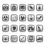 Medical tools and health care equipment icons Royalty Free Stock Image