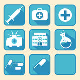 Medical tools. Nice medical icon tools for web and print Stock Images