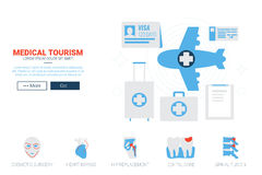 Medical Toruism Website Template Stock Photo