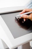 Medical touchscreen instrument Stock Image