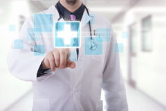 Medical touchscreen Stock Images