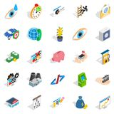 Medical training icons set, isometric style. Medical training icons set. Isometric set of 25 medical training vector icons for web isolated on white background Stock Photo