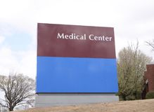 Medical Treatment Center and Clinic. A Medical serves general medical needs and all types of aliments and emergency, urgent and minor medical care to people in Royalty Free Stock Photography