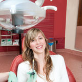 Medical treatment at the dental clinic Stock Photography