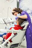 Medical Treatment At The Dental Clinic Royalty Free Stock Photos