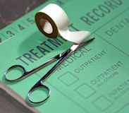 Medical Treatment Record Royalty Free Stock Photo