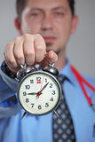 Medical treatment time. By Doctor royalty free stock photography