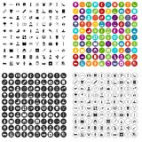 100 medical treatmet icons set vector variant. 100 medical treatmet icons set vector in 4 variant for any web design isolated on white Royalty Free Stock Image