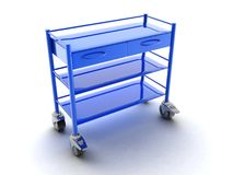 Medical trolley equipment Royalty Free Stock Photography