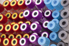 Medical tubes. For blood to diagnose the disease selective focus Stock Images