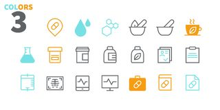 Medical UI Pixel Perfect Well-crafted Vector Thin Line Icons 48x48 Ready for 24x24 Grid for Web Graphics and Apps with. Editable Stroke. Simple Minimal Royalty Free Stock Image