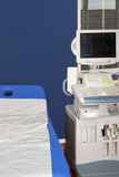 Medical ultrasonic. Scanner station equipment for monitoring Royalty Free Stock Images