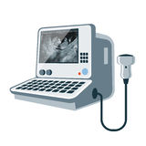 Medical ultrasonic diagnostic machine Royalty Free Stock Image