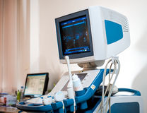 Medical ultrasonography machine Stock Image