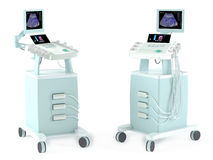 Medical Ultrasound diagnostic machine isolated. At the white Stock Photos