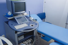 Medical ultrasound diagnostic machine. Ready to work Royalty Free Stock Photography