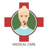 Medical user support. Medical service - vector illustration Stock Photo