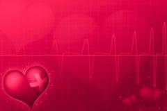 Medical Valentine's day. Red tint illustration Stock Photo