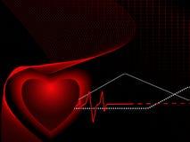 Medical vector backdrop with pulse Stock Photos