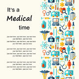 Medical vector background with place for text. Stock Image