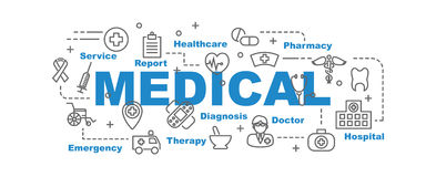 Medical vector banner Royalty Free Stock Photography
