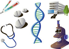 Medical Vector Clipart. Vector clip art of medical related images stock illustration