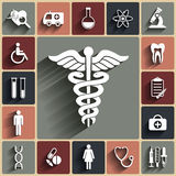 Medical vector flat icons set Royalty Free Stock Photo