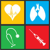 Medical vector icon set Stock Photo