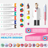 Medical vector icon set Stock Image