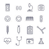 Medical vector icon set Royalty Free Stock Image