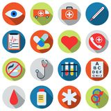 Medical vector icons. A set of medical flat vector icons Stock Photos