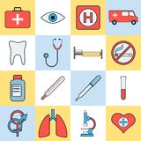 Medical vector icons Royalty Free Stock Photo