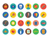 Medical vector icons set. Health, medical and Royalty Free Stock Photos