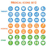 Medical vector icons set Stock Image